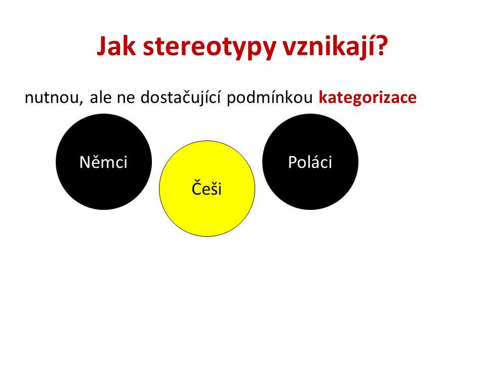 Jak stereotypy fungují.stereotypy fungují jako tzv.
