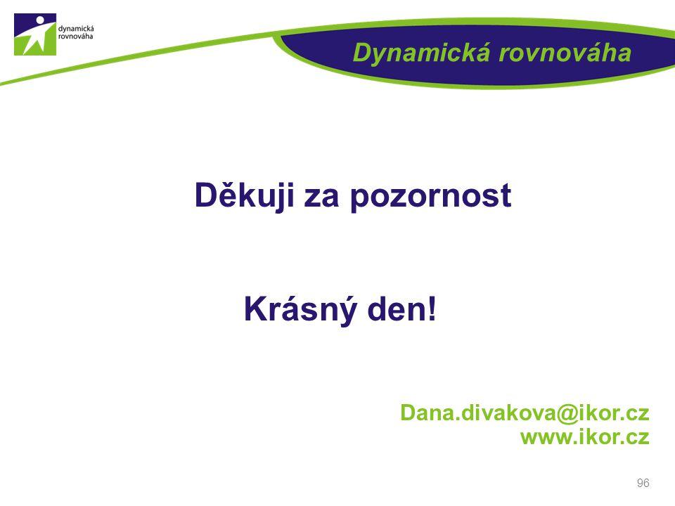 Dynamická rovnováha Děkuji za pozornost Krásný den! Dana.divakova@ikor.cz www.ikor.cz 96