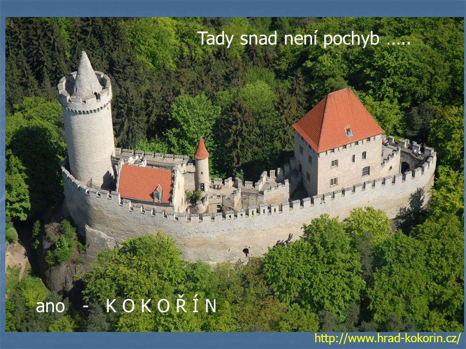 Tady snad není pochyb ….. ano - K O K O Ř Í N http://www.hrad-kokorin.cz/