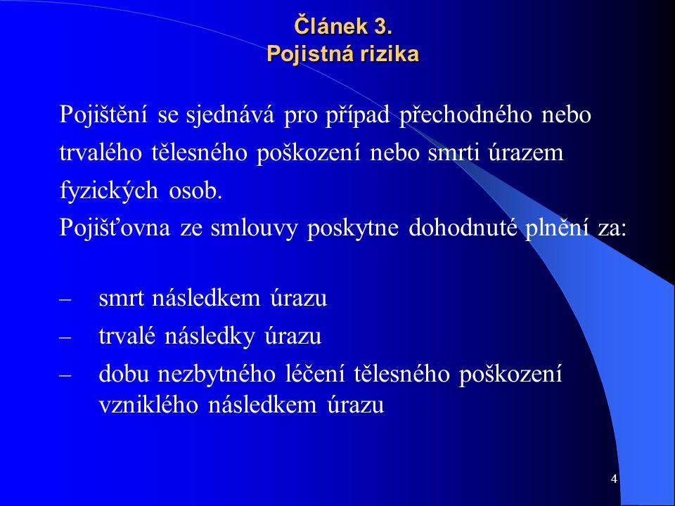 15 Pojistnou smlouvu č.