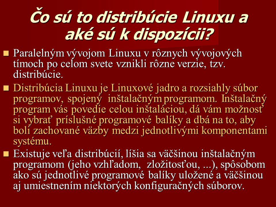 Čo sú to distribúcie Linuxu a aké sú k dispozícii.