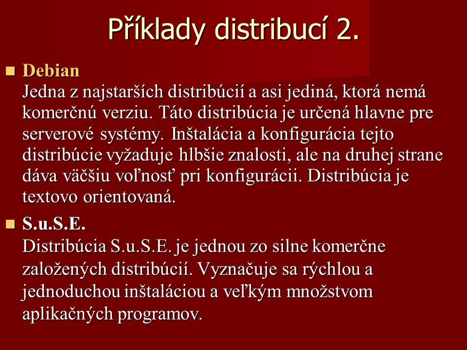 Příklady distribucí 2.