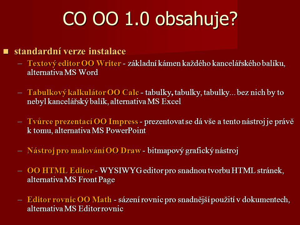 CO OO 1.0 obsahuje.