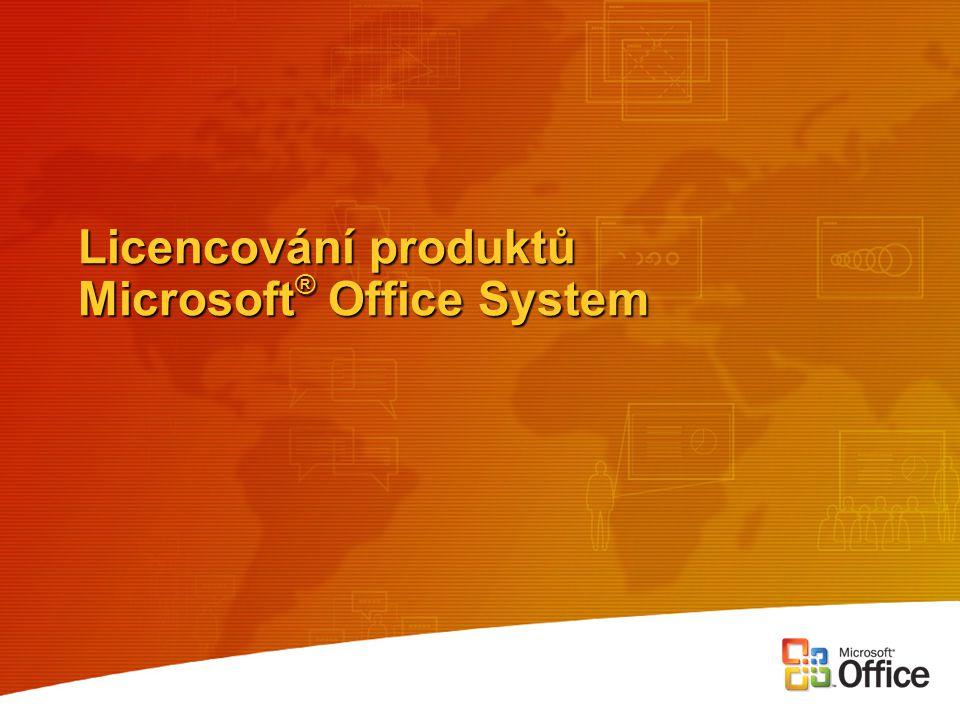 Licencování produktů Microsoft ® Office System