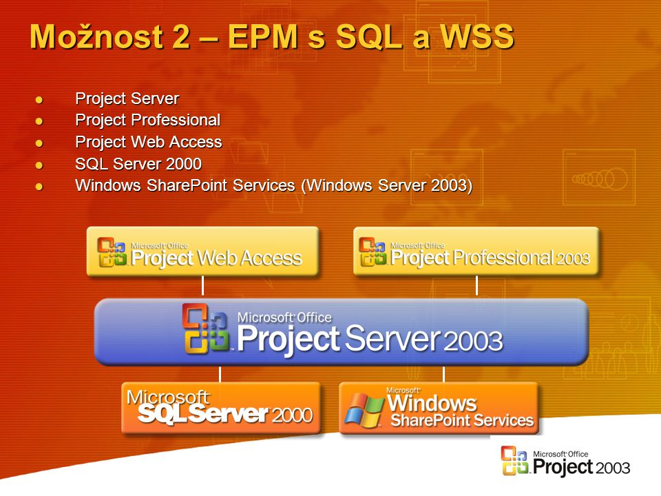 Project Server Project Server Project Professional Project Professional Project Web Access Project Web Access SQL Server 2000 SQL Server 2000 Windows