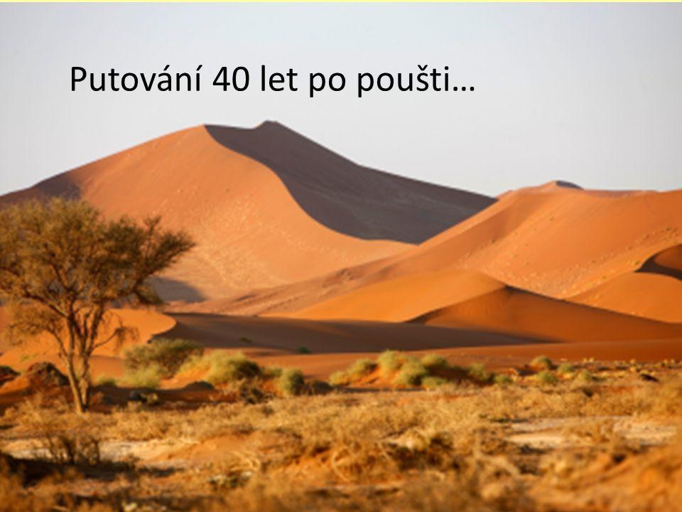 Putování 40 let po poušti…