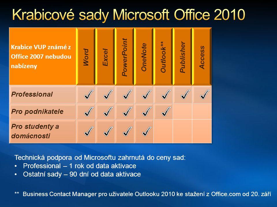 ** Business Contact Manager pro uživatele Outlooku 2010 ke stažení z Office.com od 20.