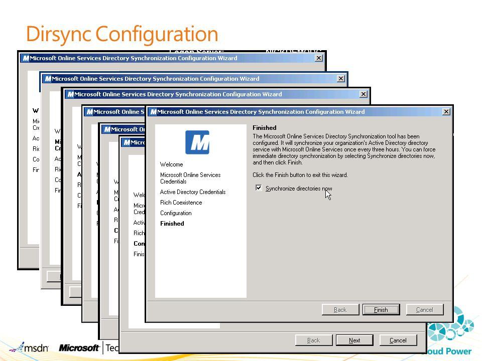 Dirsync Configuration