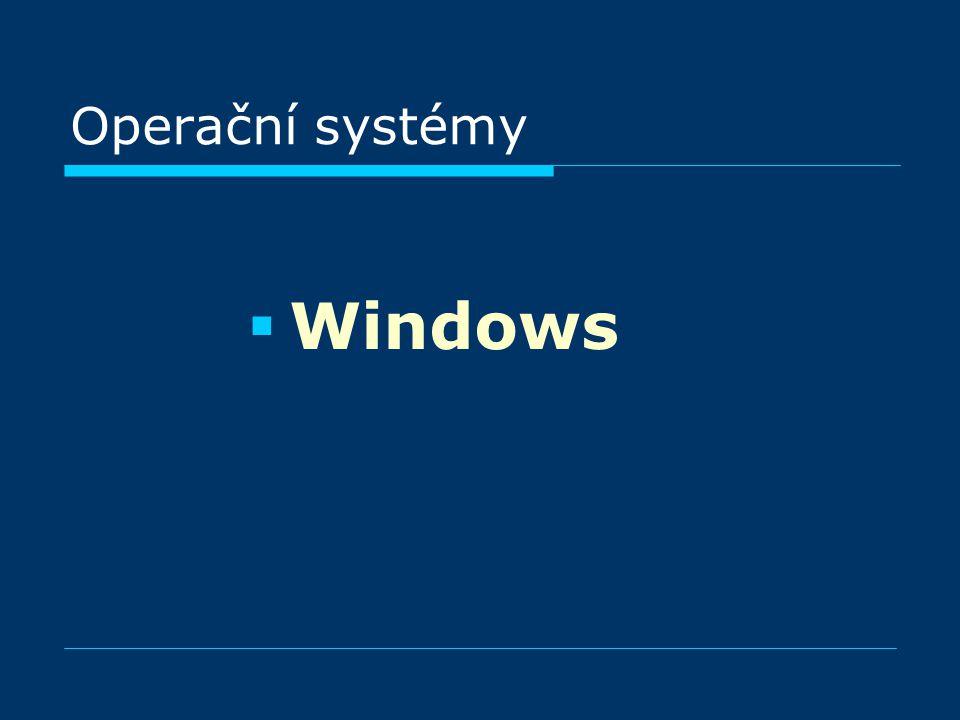 Operační systémy WWindows