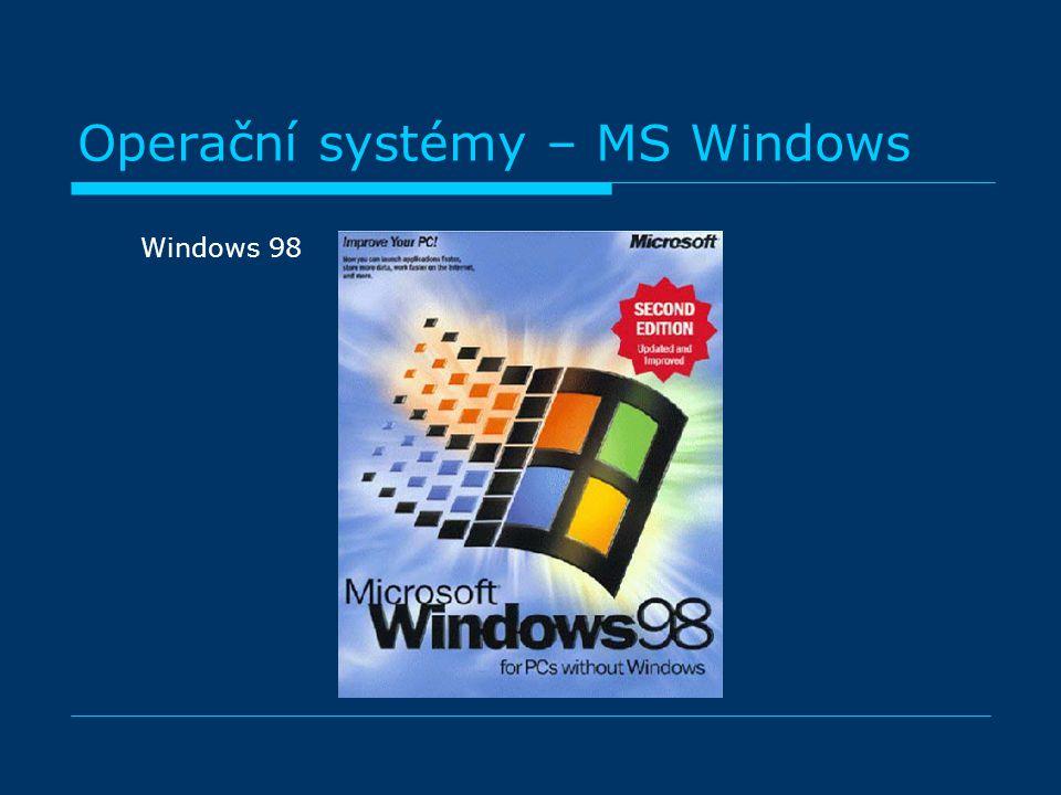 Operační systémy – MS Windows Windows 98
