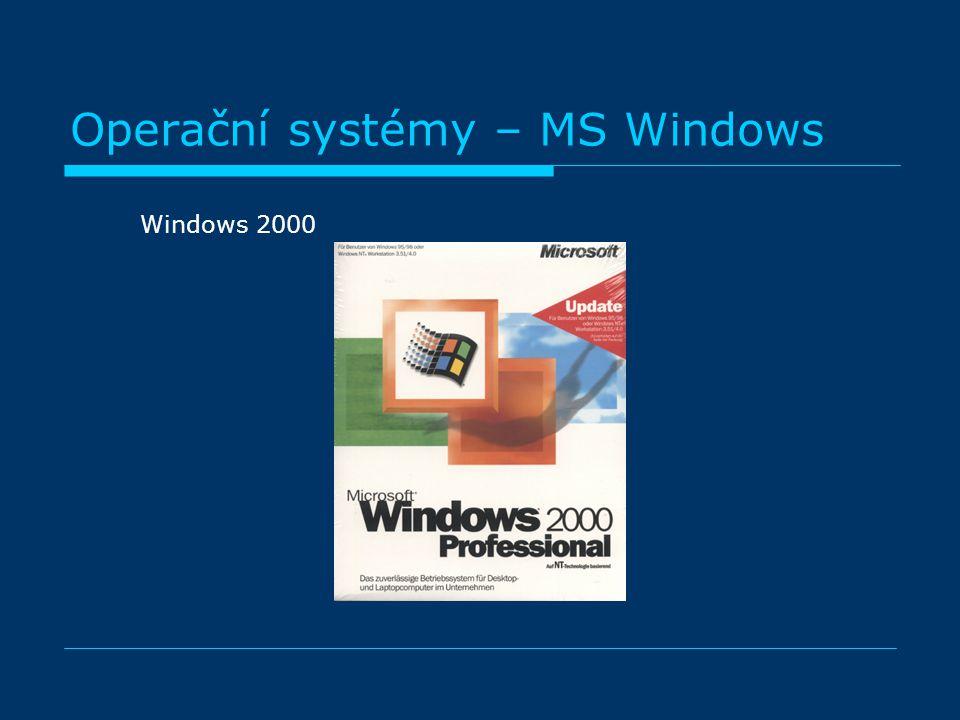 Operační systémy – MS Windows Windows 2000