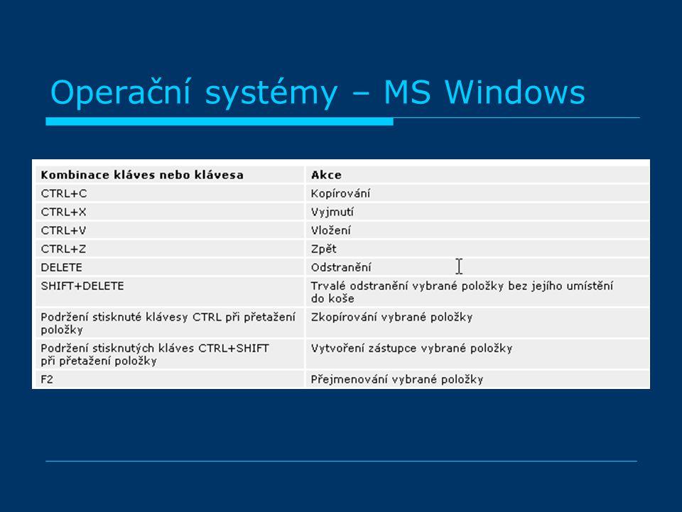 Operační systémy – MS Windows