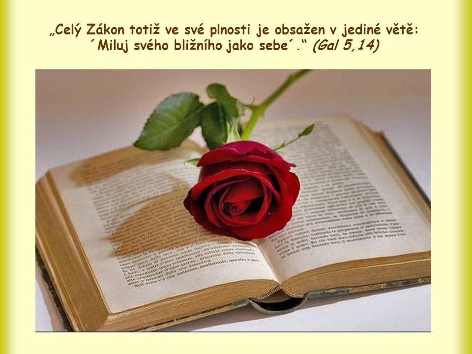Láska k bližnímu je dokonce projevem té druhé lásky, lásky k Bohu.