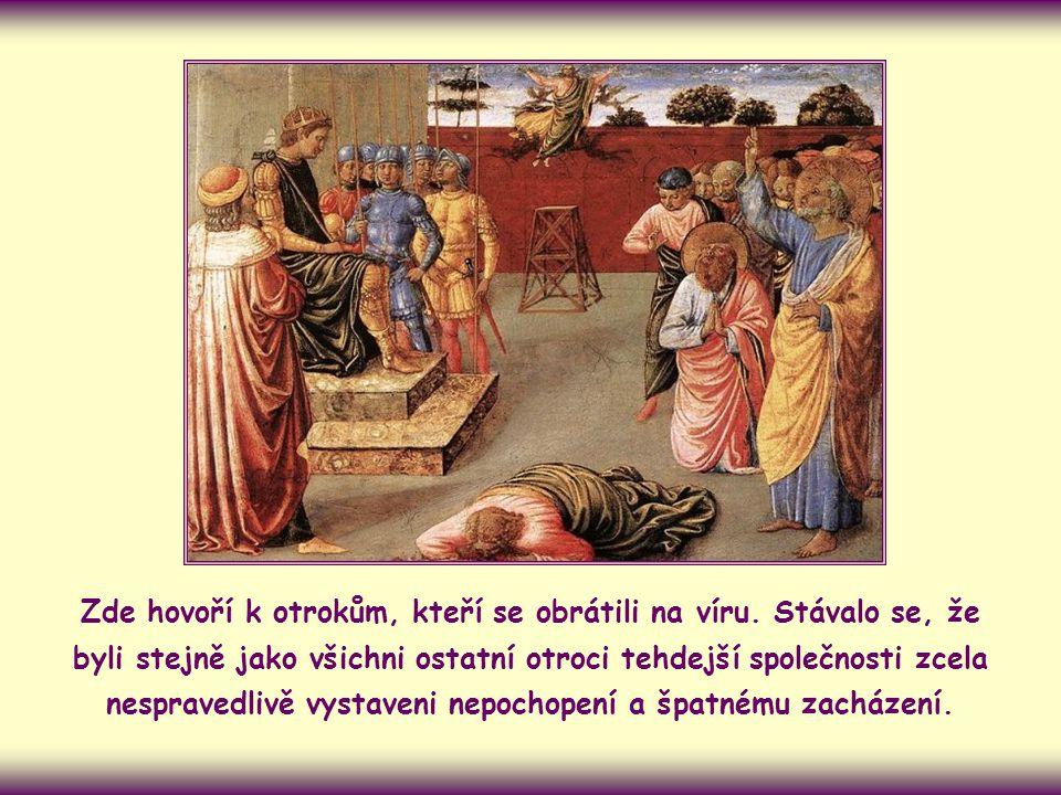Apoštol Petr objasňuje svým křesťanským obcím, jaký je opravdový duch evangelia. Zvlášť se zaměřuje na to, jak ho konkrétně uplatnit v podmínkách každ