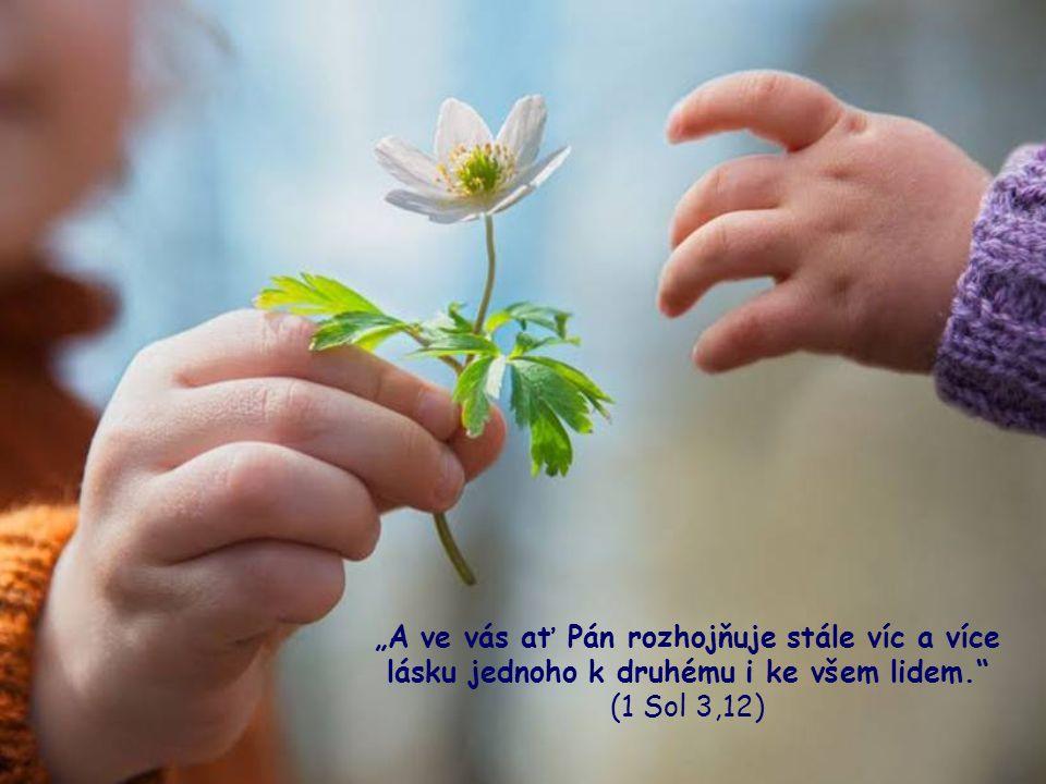 Je zřejmé, že bude-li v našem společenství ovzduší vzájemné lásky, bude její teplo nepochybně přecházet na všechny ostatní.