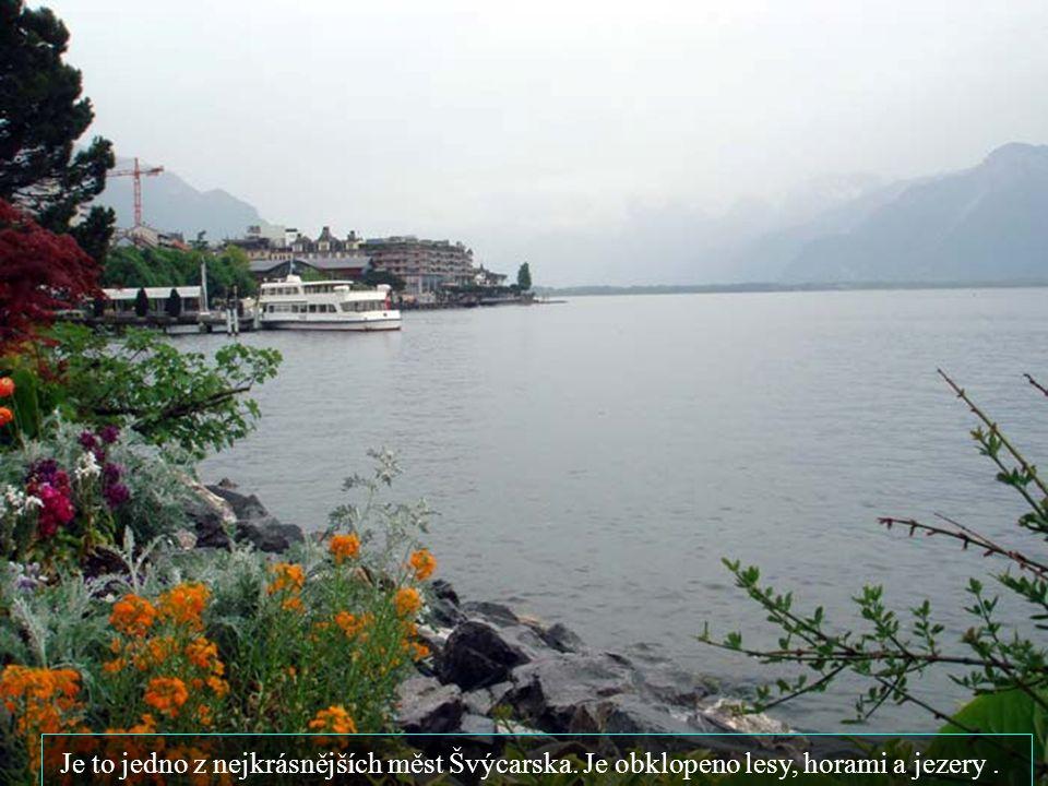 mezi dvěma jezery leží známe středisko Interlaken..