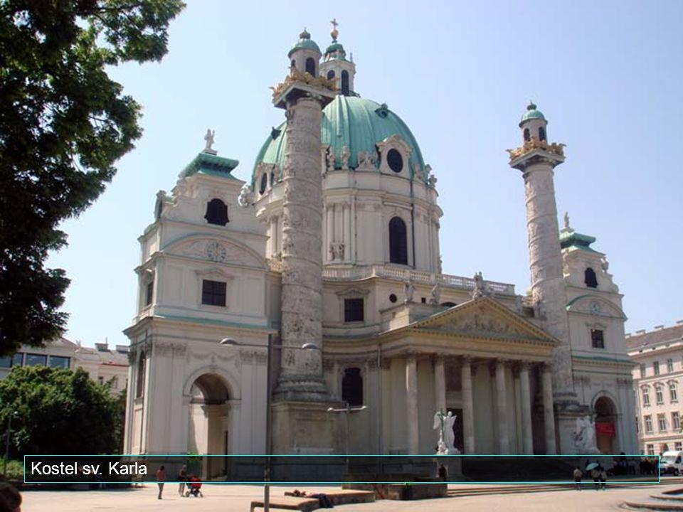 Hlavní město Rakouska Vídeň má téměř 2 miliony obyvatel.