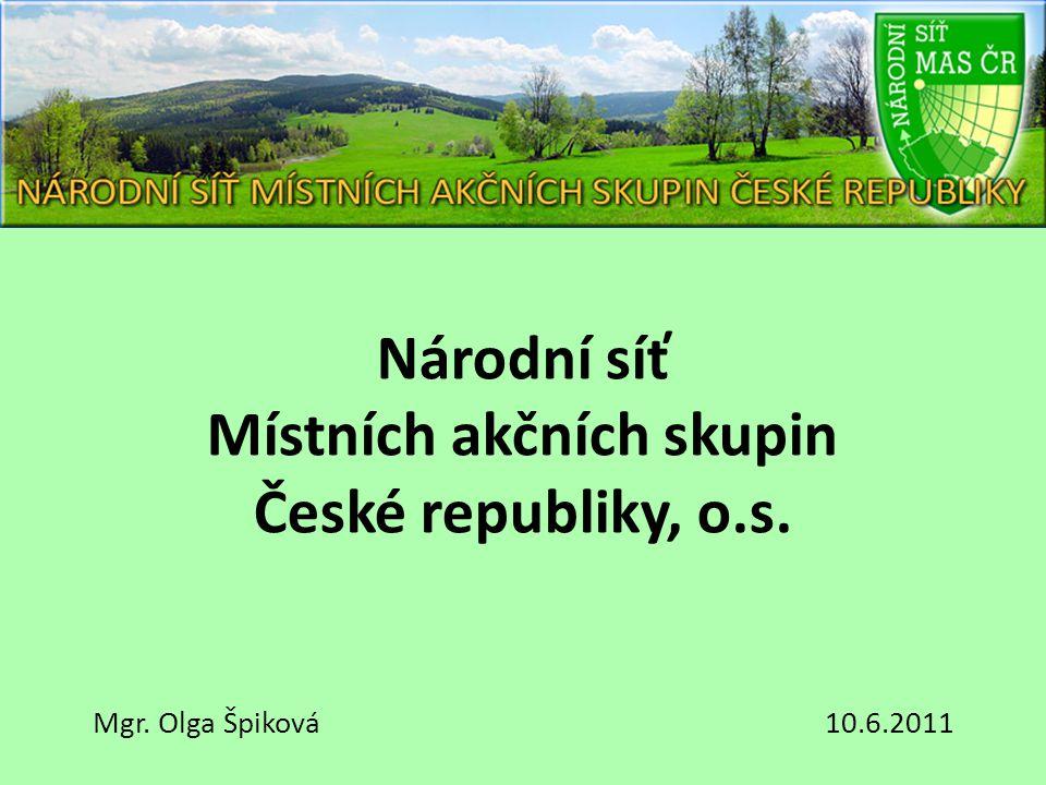 Národní síť Místních akčních skupin České republiky, o.s. Mgr. Olga Špiková 10.6.2011