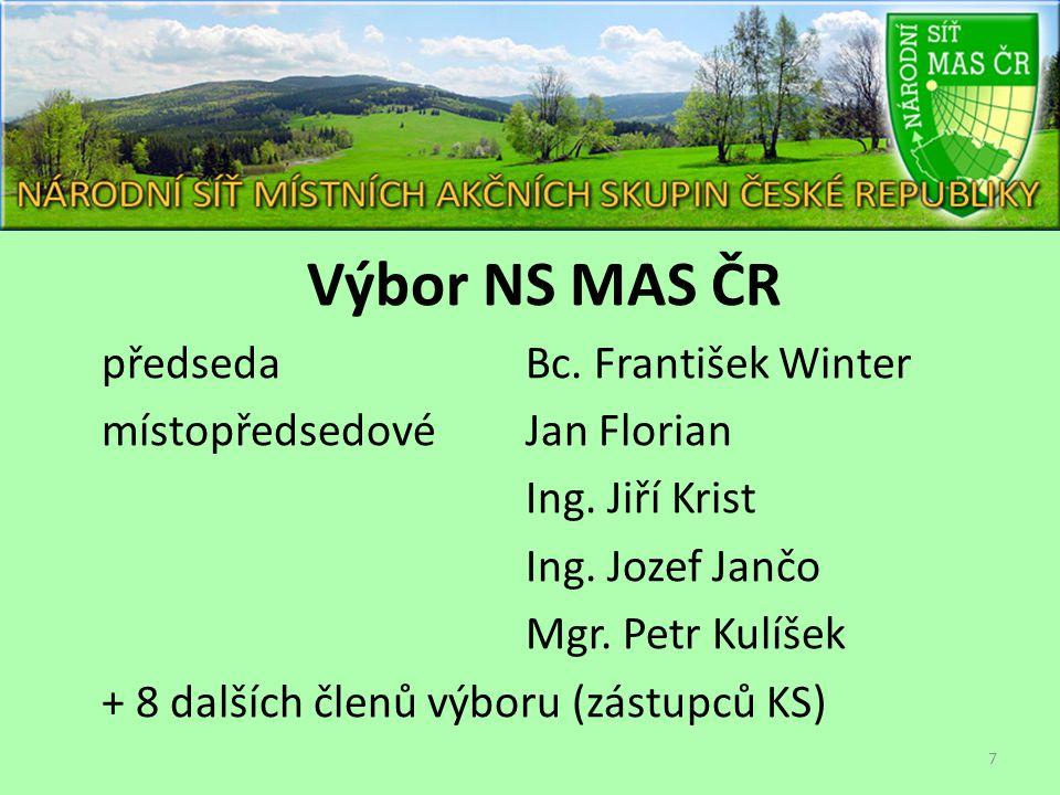 Výbor NS MAS ČR předseda Bc.František Winter místopředsedovéJan Florian Ing.
