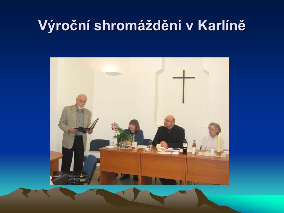 Výroční shromáždění v Karlíně