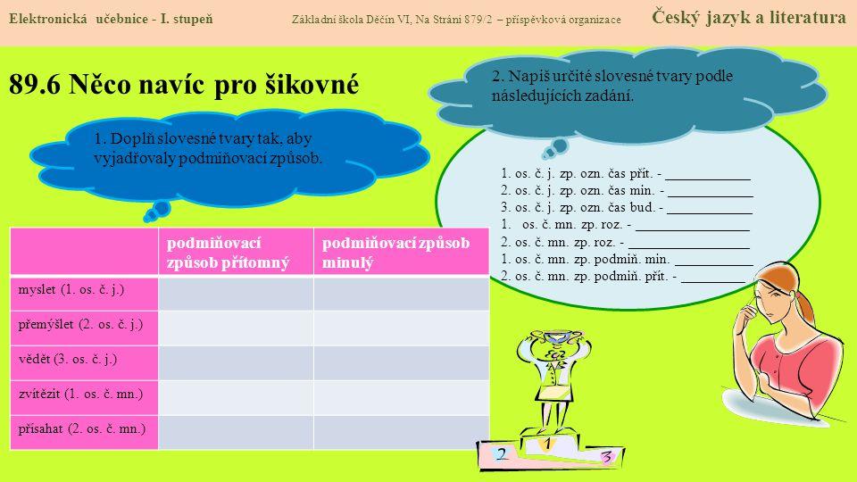89.6 Něco navíc pro šikovné Elektronická učebnice - I.
