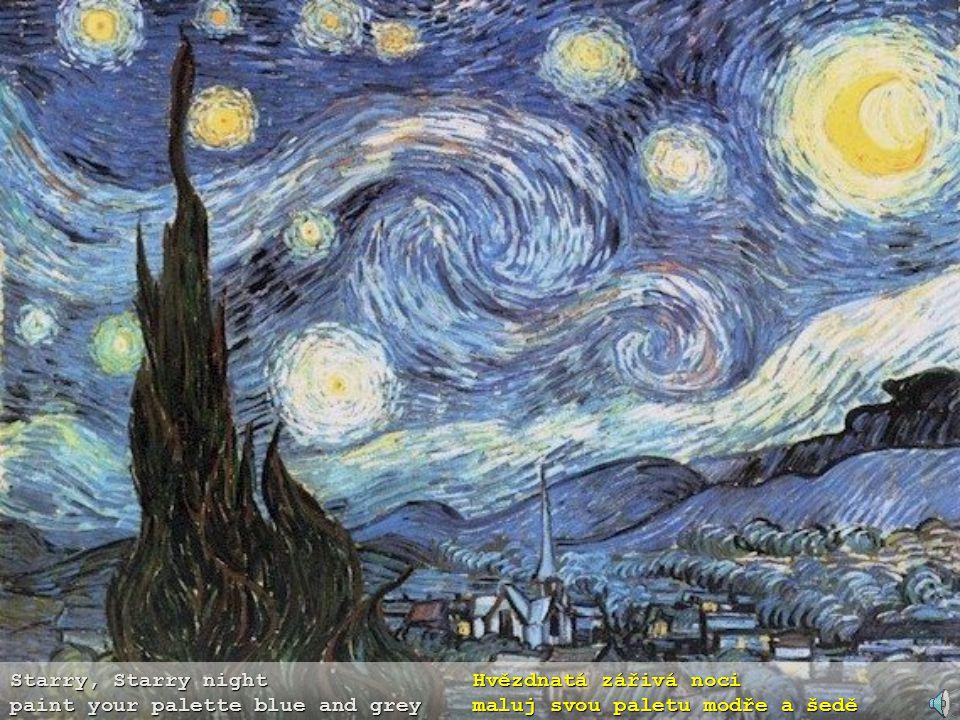 Starry, Starry night Hvězdnatá zářivá noci paint your palette blue and grey maluj svou paletu modře a šedě