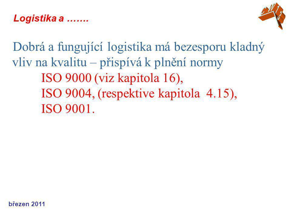 březen 2011 Logistika a …….