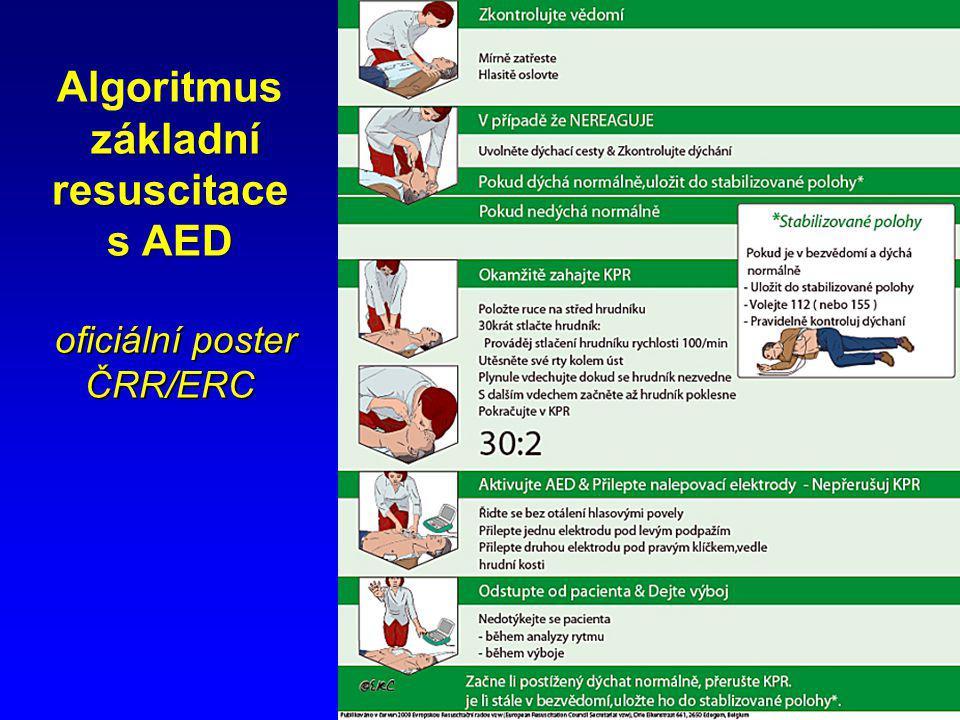 11 základní resuscitace s AED oficiální poster ČRR/ERC Algoritmus základní resuscitace s AED oficiální poster ČRR/ERC
