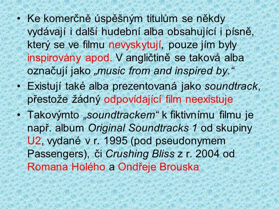 Ke komerčně úspěšným titulům se někdy vydávají i další hudební alba obsahující i písně, který se ve filmu nevyskytují, pouze jím byly inspirovány apod