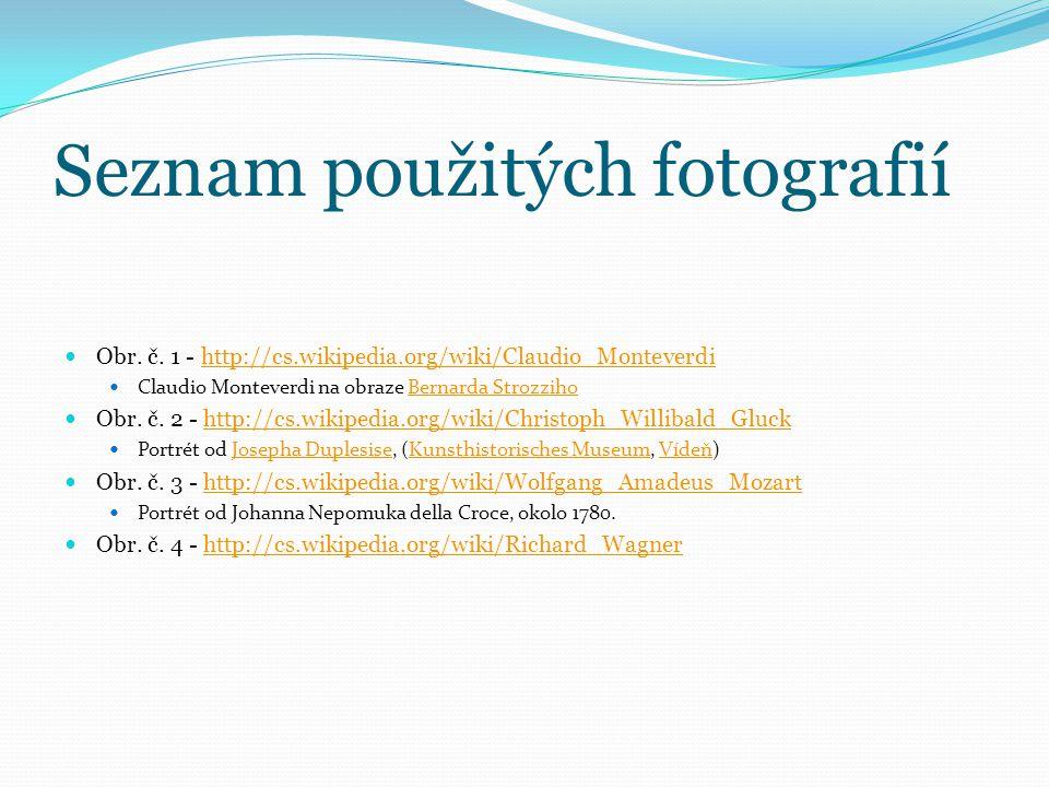 Seznam použitých fotografií Obr.č.