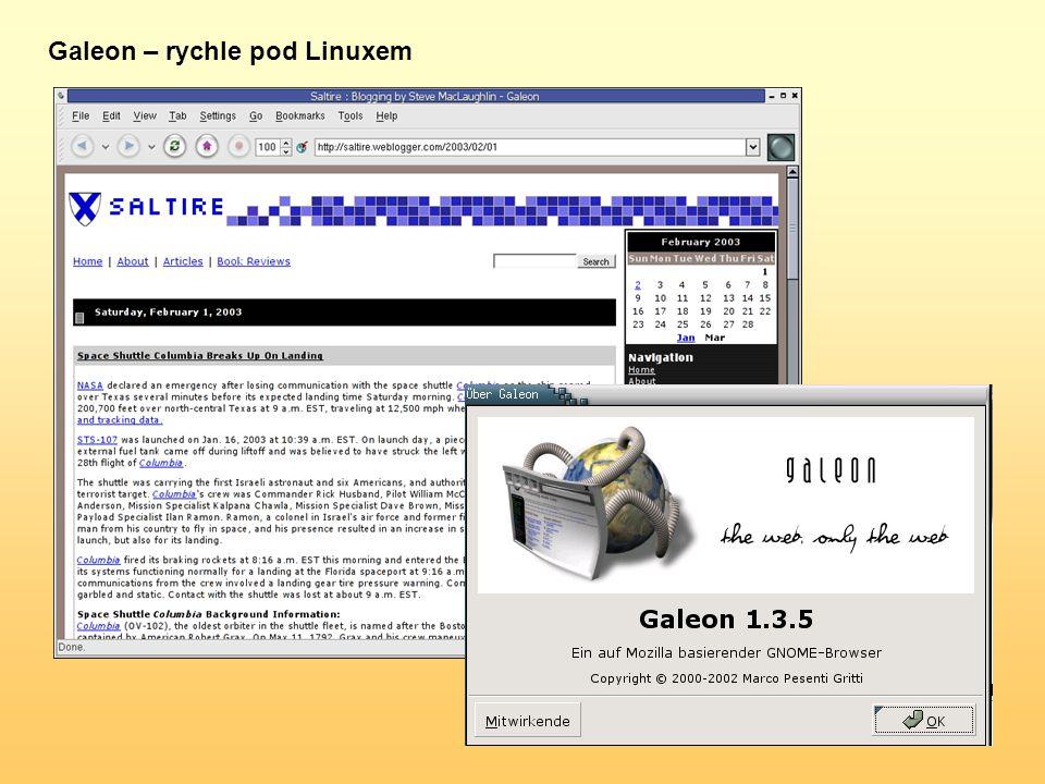 Galeon – rychle pod Linuxem