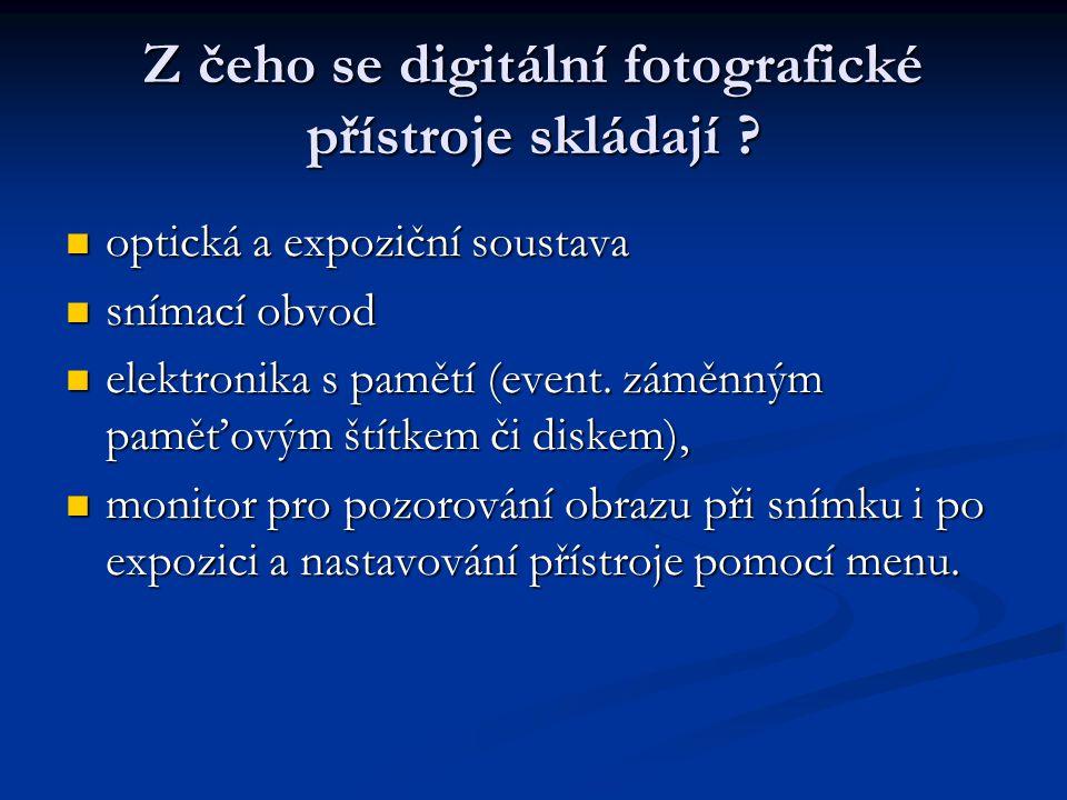 Z čeho se digitální fotografické přístroje skládají .