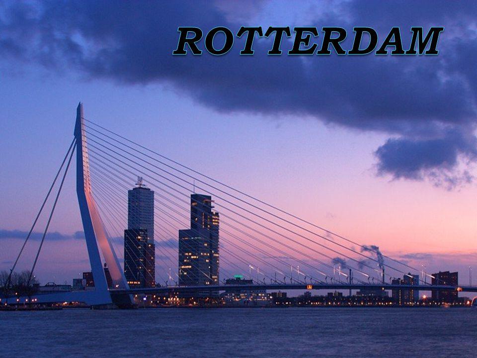  - Jeden z největších přístavů světa  - Řeka Rotte (vlévá se do řeky Maas)  - Severní a jižní Rotterdam  - Velká hustota dálnic  - Za 2.