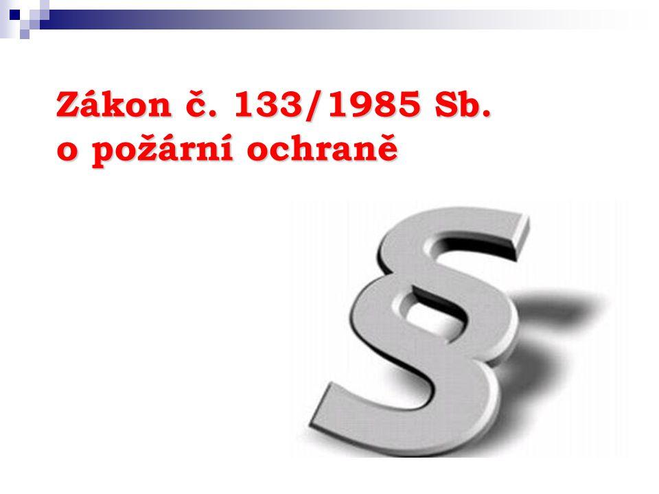 Zákon č. 133/1985 Sb. o požární ochraně