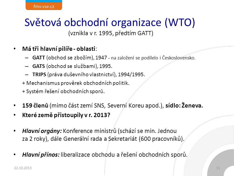 Světová obchodní organizace (WTO) (vznikla v r.