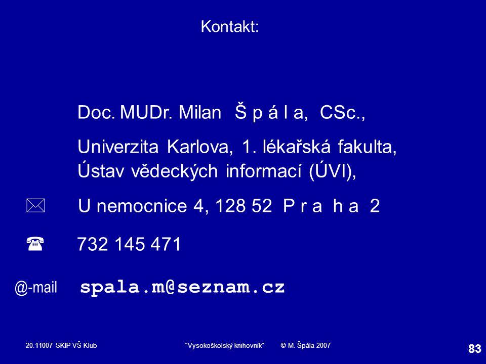 20.11007 SKIP VŠ Klub Vysokoškolský knihovník © M.