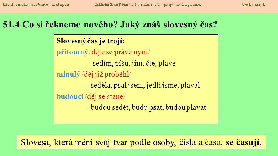 51.5 Procvičení a příklady.Elektronická učebnice - I.
