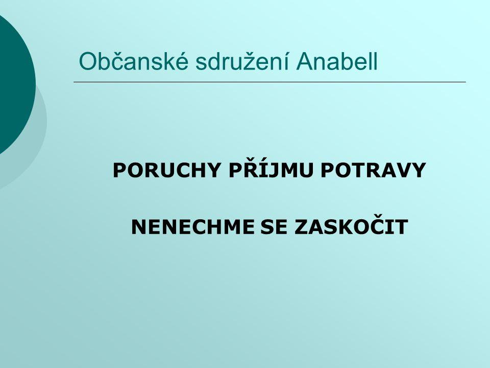 Občanské sdružení Anabell PORUCHY PŘÍJMU POTRAVY NENECHME SE ZASKOČIT