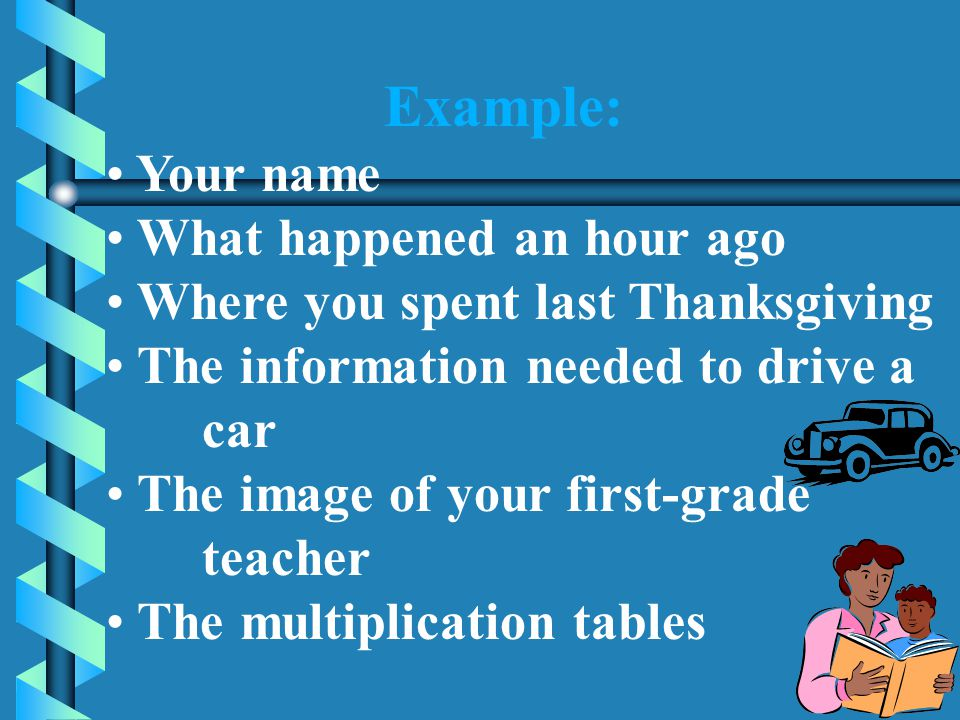 LONG-TERM MEMORY (The Memory Bank) The memory bank, is the largest component of the memory system, with practically ______________storage space.The me