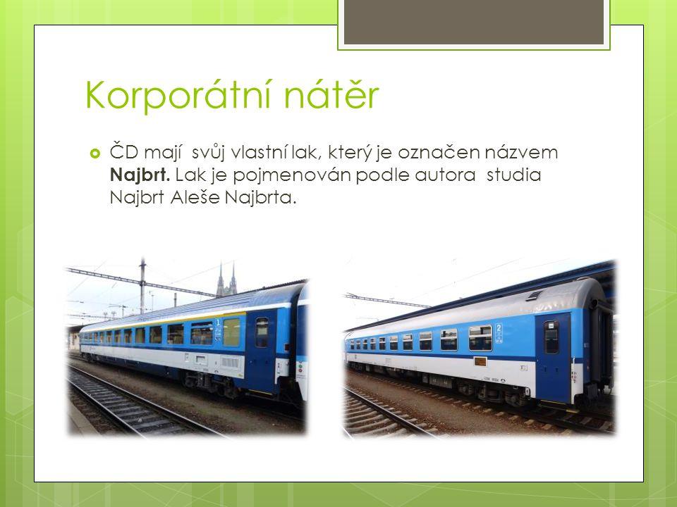 Lak ČD Cargo  Vychází z laku Českých drah z Najbrtu, ale od ČD se liší.