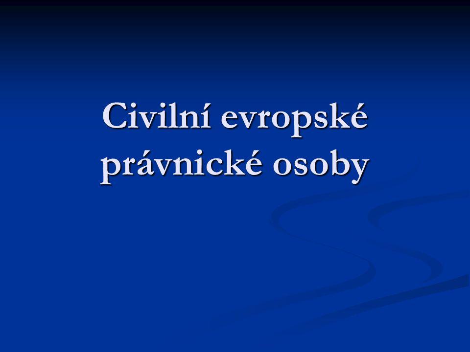 Civilní evropské právnické osoby