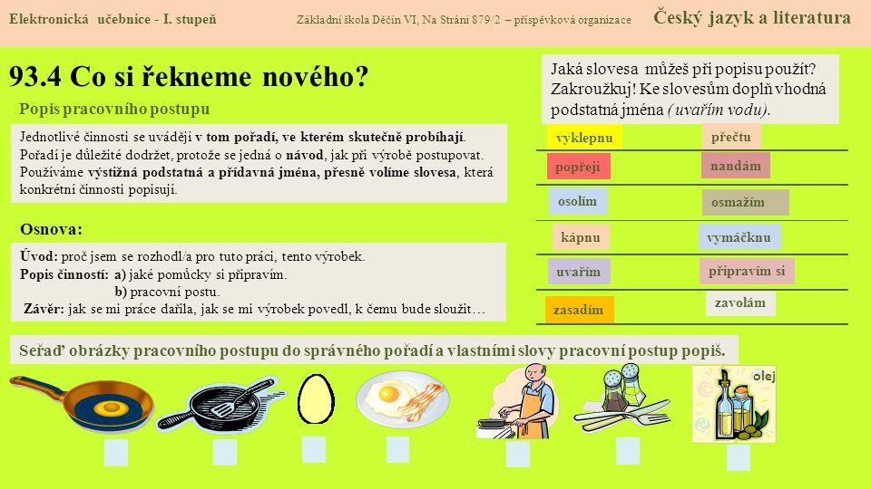 93.5 Procvičení a příklady Elektronická učebnice - I.