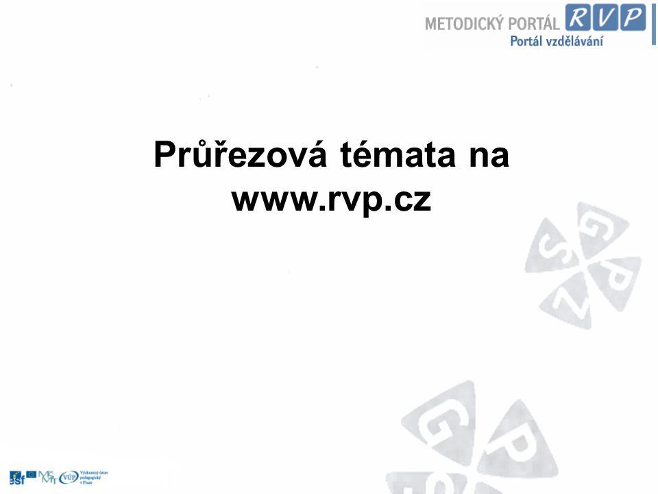 Průřezová témata na www.rvp.cz