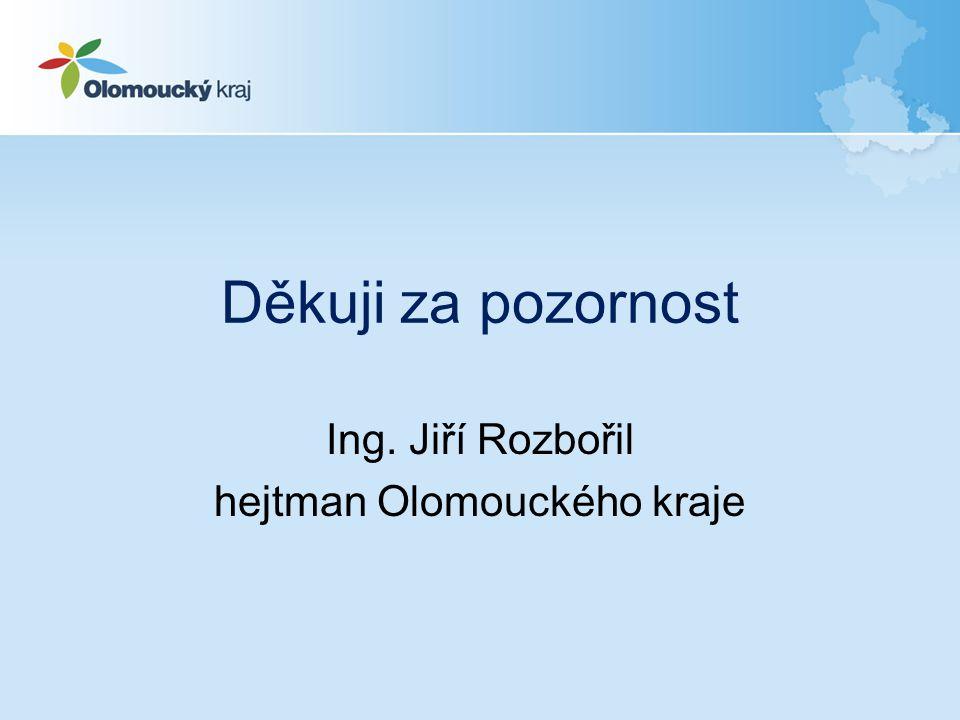 Děkuji za pozornost Ing. Jiří Rozbořil hejtman Olomouckého kraje