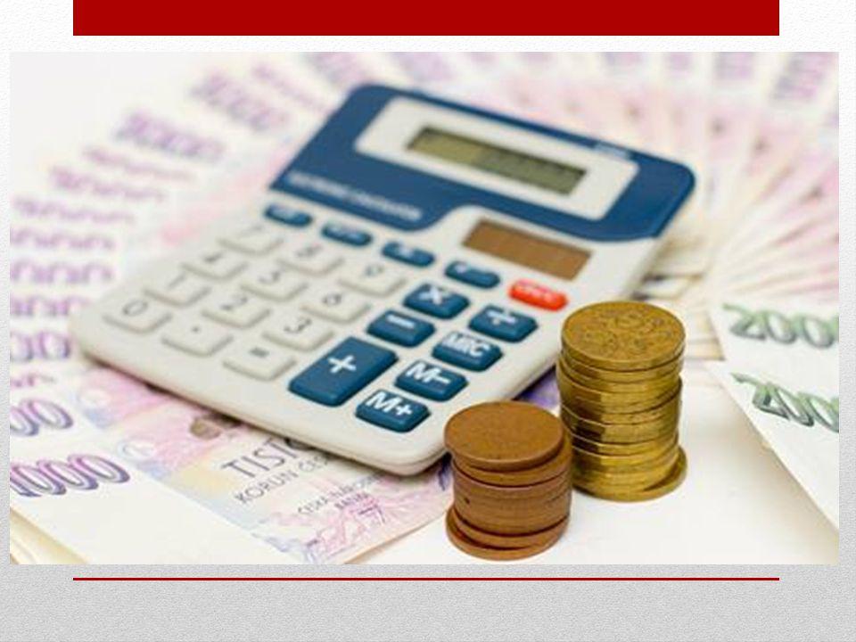 ROZPOČET seznam veškerých plánovaných příjmů a výdajů rodinný rozpočet = plán finančního hospodaření domácnosti, jeho vytvoření vede k získání kontroly nad finanční situací rodiny a ke snížení rizika jejích zbytečných výdajů a případného zadlužování 1)PŘÍJMY rodiny – mzdy, výdělky z brigád či přivýdělky z podnikání, příjmy ze spoření (úroky), důchod (starobní, invalidní, sirotčí, vdovský), dávky, výpomoc od rodičů a přátel, výživné, výnos z pronájmu 2)VÝDAJE rodiny a)nutné – nájemné, splátky, bankovní poplatky, platby na spoření a připojištění, koncesionářský poplatek za rozhlas a televizi, platba za elektřinu, vodu, plyn, topení, telefony a internet, výdaje na dopravu nebo provoz automobilu, potraviny, drogerie, kosmetika a kadeřnictví, léky, běžné oblečení, potrava a péče o domácí mazlíčky, údržba domácnosti či zahrady, školné a školní pomůcky, kroužky, kapesné dětem, oprava oděvů, bot a dalších nezbytností b)zbytné – kouření, jídla v restauracích a v podnicích rychlého občerstvení, oslavy svátků, módní oblečení, koníčky, sport, nákupy pro radost, kina a divadla, dovolená, vybavení domácnosti