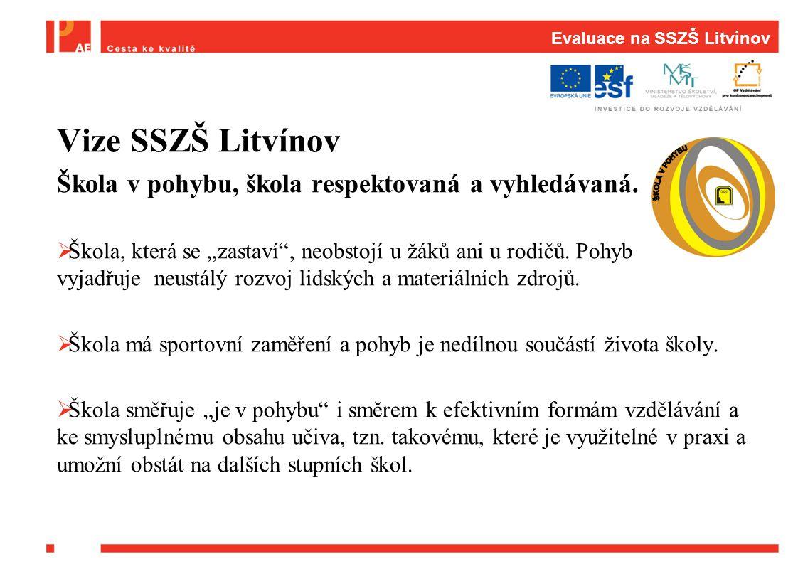 Evaluace na SSZŠ Litvínov Vize SSZŠ Litvínov Škola v pohybu, škola respektovaná a vyhledávaná.