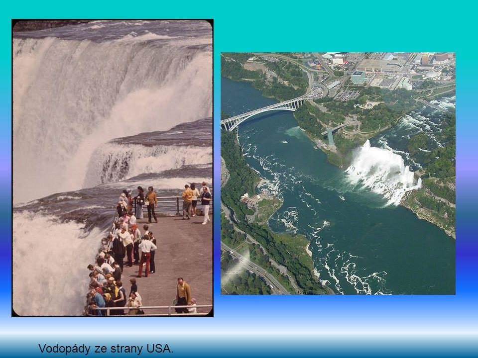 Vodopády ze strany USA.