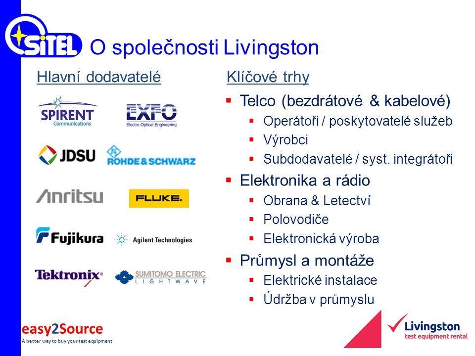 easy2Source A better way to buy your test equipment Hlavní dodavateléKlíčové trhy  Telco (bezdrátové & kabelové)  Operátoři / poskytovatelé služeb 