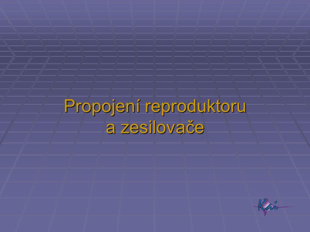 Propojení reproduktoru a zesilovače