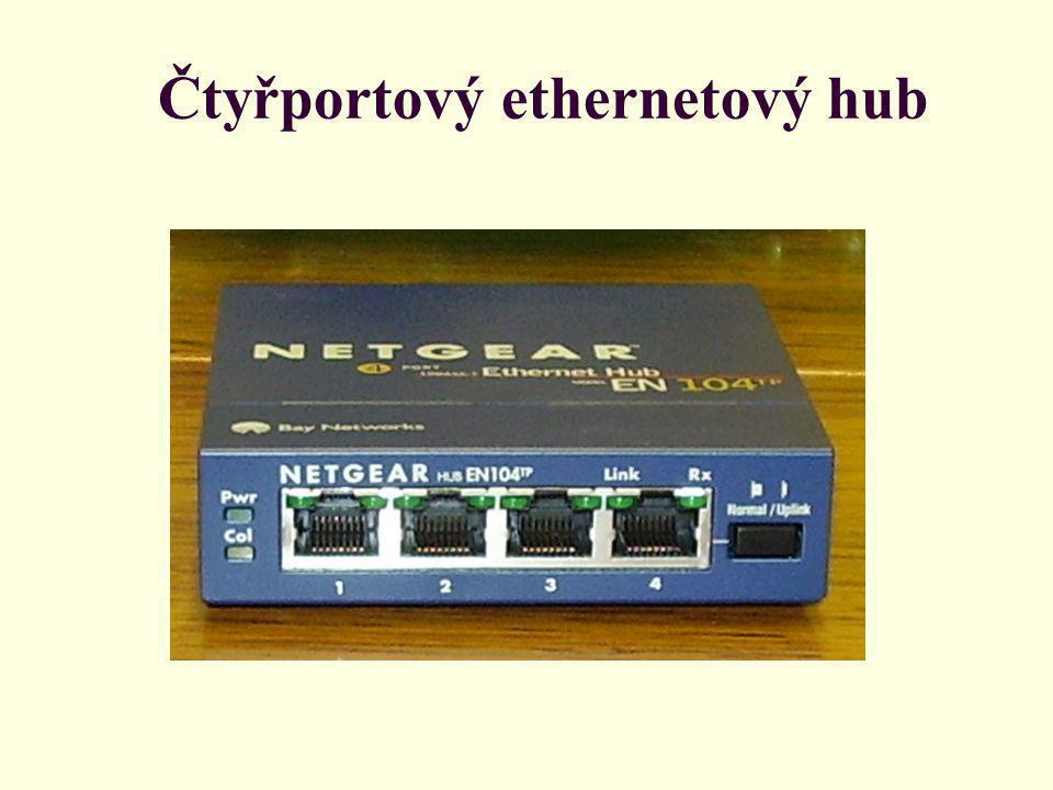 Čtyřportový ethernetový hub